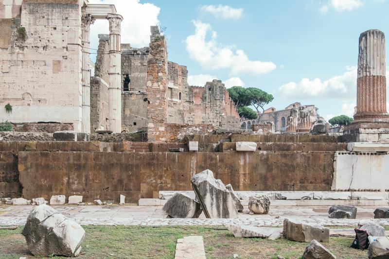Foro di Augusto - Tempio di Marte Ultore